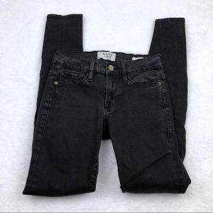 Frame Denim Le Skinny de Jeanne black jeans, 24